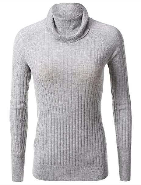 1ba01ba1f3c Mossimo Women s Ribbed Turtleneck Sweater Gray Size 2XL at Amazon Women s  Clothing store