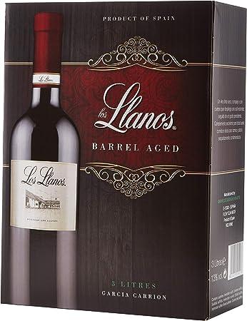 Los Llanos Tempranillo Vino Tinto, Alcohol 13%, Bag in Box de 3000 ml