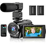 "Video Camera Camcorder YouTube Vlogging Camera FHD 1080P 30FPS 24MP 16X Digital Zoom 3"" LCD 270 Degrees Rotatable Screen…"