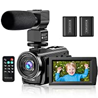 Video Camera Camcorder YouTube Vlogging Camera FHD 1080P 30FPS 24MP 16X Digital Zoom 3