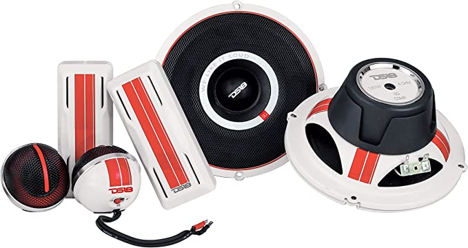 Sound Quality Component Set 2-Way Component Set DS18 SQCOMP 6.5 Inch Component Speaker System 300 Watts Max Power