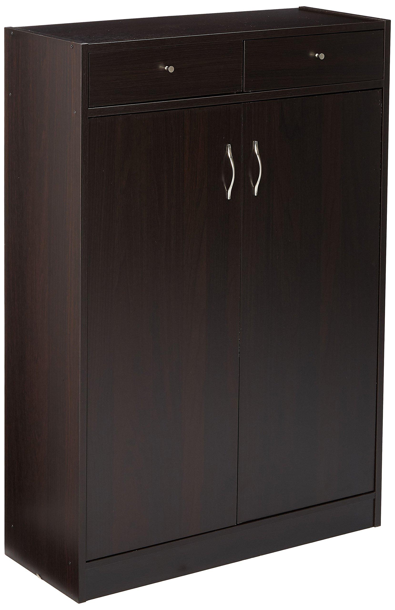 247SHOPATHOME 6138 Five Shelf Shoe Storage Cabinet
