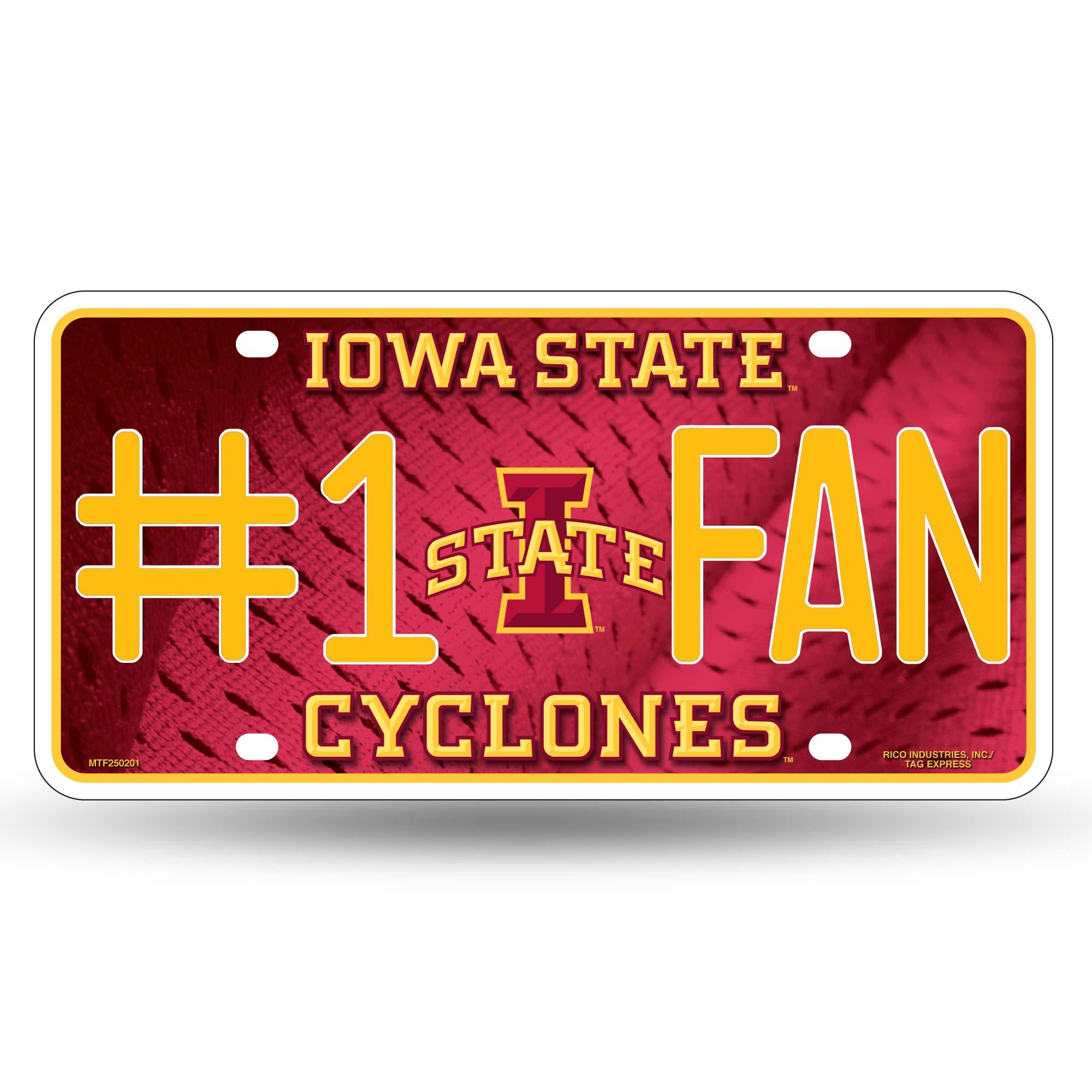NCAA Iowa State Cyclones #1 Fan Metal License Plate