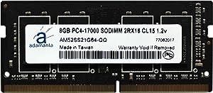 Adamanta 8GB (1x8GB) Laptop Memory Upgrade for Dell Alienware, Inspiron, Latitude, Optiplex, Precision, Vostro & XPS DDR4 2133Mhz PC4-17000 SODIMM 1Rx8 CL15 1.2v DRAM RAM