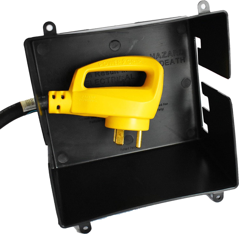 GR Innovations LLC RV Extension Cord Cover   Plug Saver   Trailer RV Camper