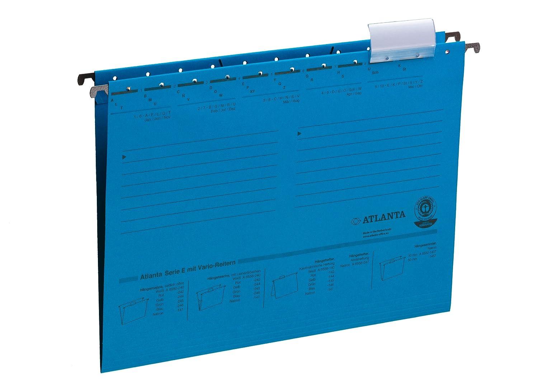Jalema 2655024600 Atlanta Serie E H/ängemappe A4 blau 25er Packung