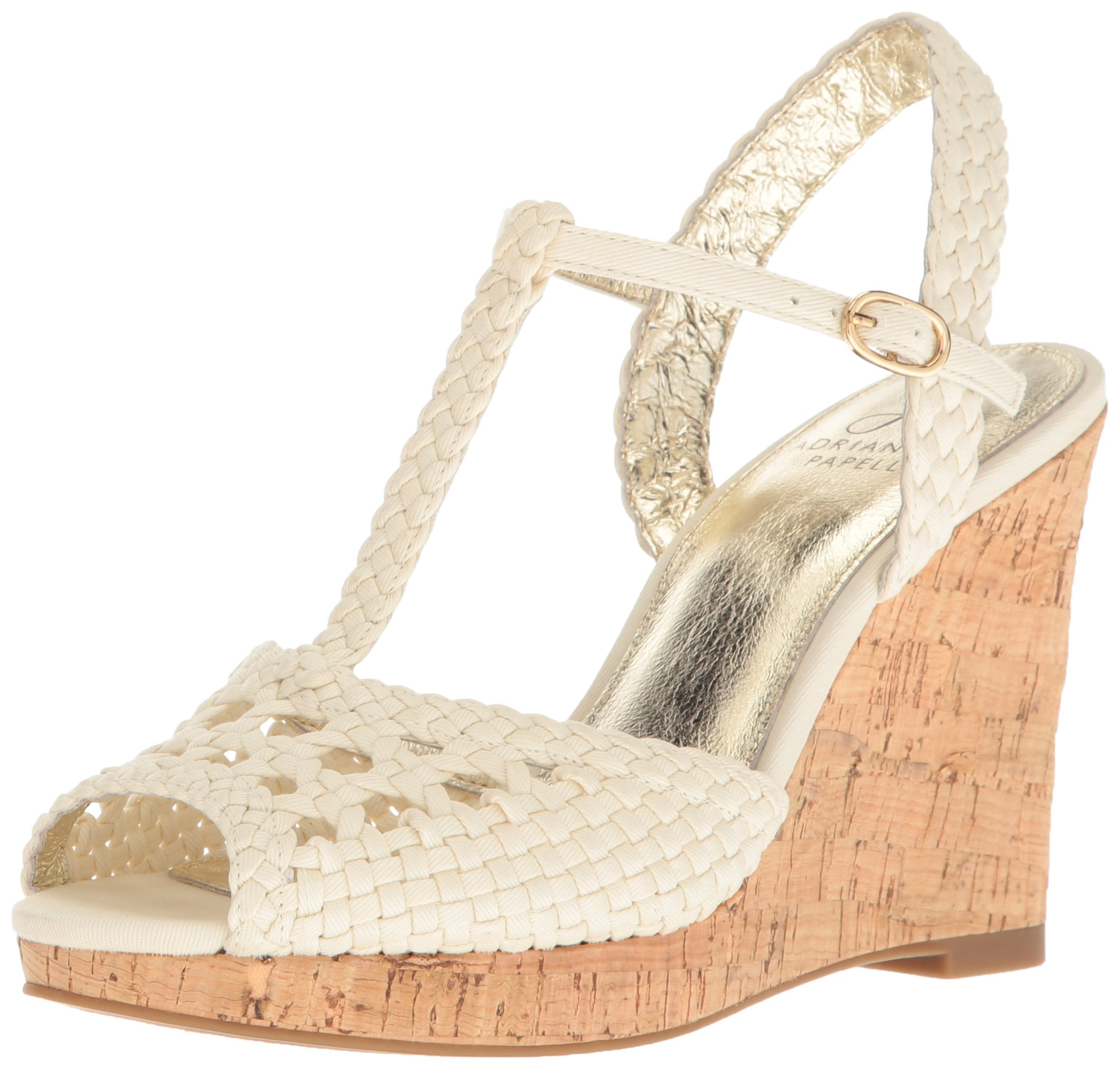 Adrianna Papell Women's Franklin Wedge Sandal, Ivory, 9 M US