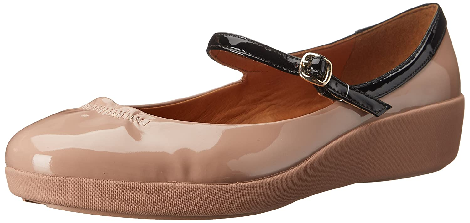 FitFlop Women's F Pop Patent Mary Jane Flat