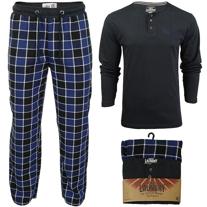 Tokyo Laundry - Pantalón de Pijama - Cuadrados - Manga Larga - para Hombre   Amazon.es  Ropa y accesorios f306a98aacd