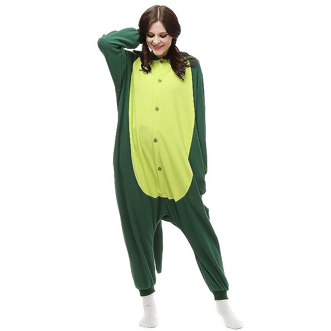 Comlife - Bata - Mujer multicolor dinosaurio verde XL: Amazon.es: Ropa y accesorios