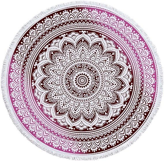 yiwant grueso redondo Mandala tapiz indio colgante de pared playa ...