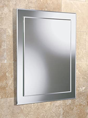 Bathroom Mirror 700x500 Glass 5mm Bevelled Edge 77 Kg