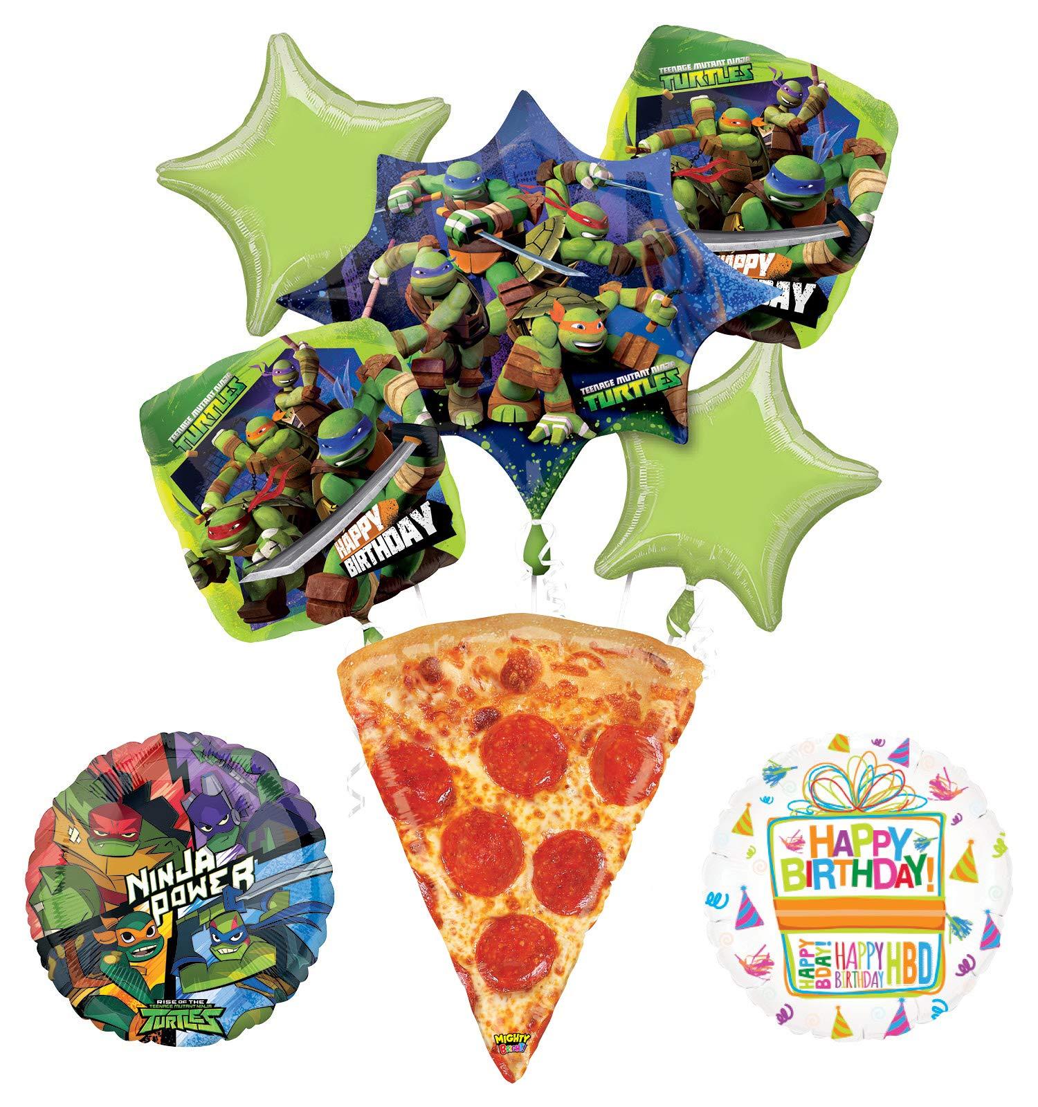 Mayflower Teenage Mutant Ninja Turtles Birthday Party Supplies TMNT Pizza Balloon Bouquet Decorations