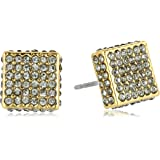 Vince Camuto Crystal-Studded Square Earrings