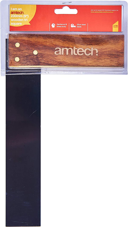 9-Inch Amtech P3388 Wood Tri Square
