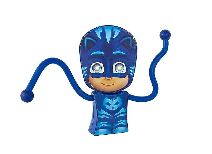 GoGlow PJ Masks Gatuno Linterna y Luz de Noche con Brazos Flexibles, Azul