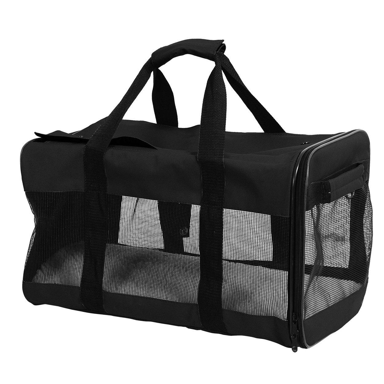 Animal Treasures 31121 Pet Travel Carrier, Black