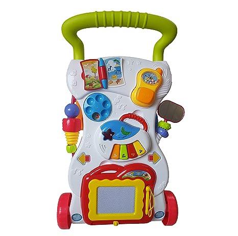 andador con tablero de dibujo, piano y teléfono pequeño: Amazon.es ...