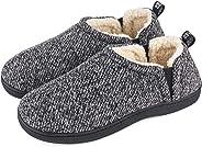 Snug Leaves Women's Fuzzy Wool Like Memory Foam Loafer Slippers with Soft Sherpa Lining