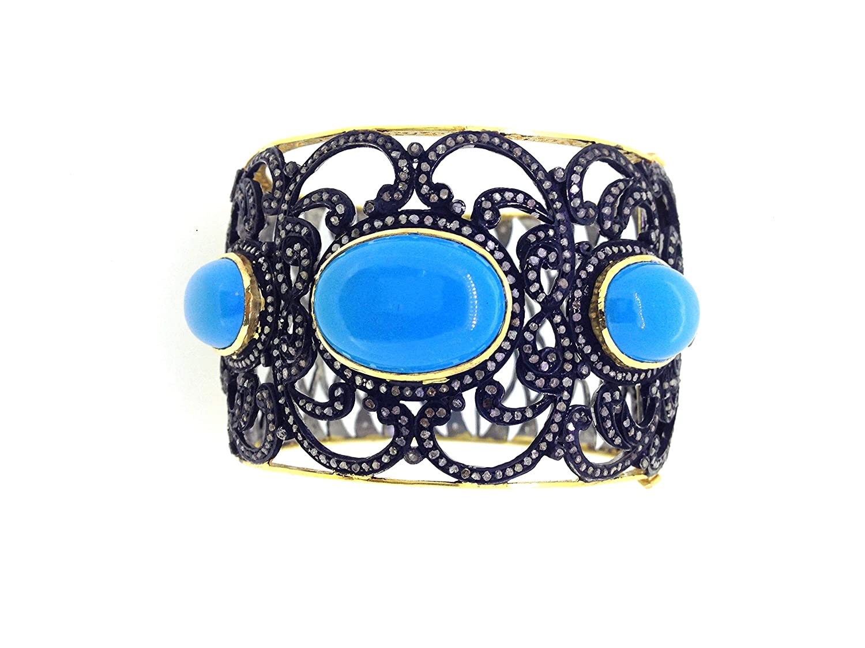 2 pcs Tourmaline Diamond 925 Sterling Silver Handmade Bangle for Woman/'s Victorian Jewelry Bangle Gift For Her Bangle Pave Diamond Bangle.