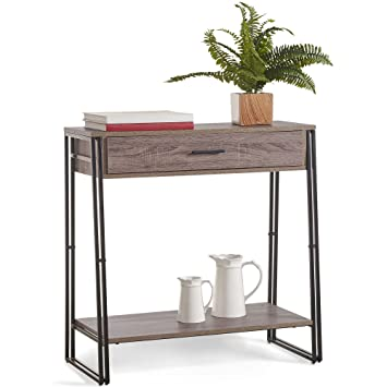 VonHaus Rustic Console Table With Drawer Modern Industrial Design Interesting Modern Industrial Design Furniture