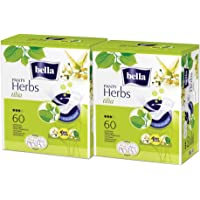 Bella Herbs Panty-liners with Tilia Flower - 60 Pieces (Pack of 2)