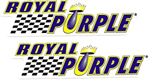 Royal Purple Racing Decals Stickers 7 Inches Long Size Set of 2