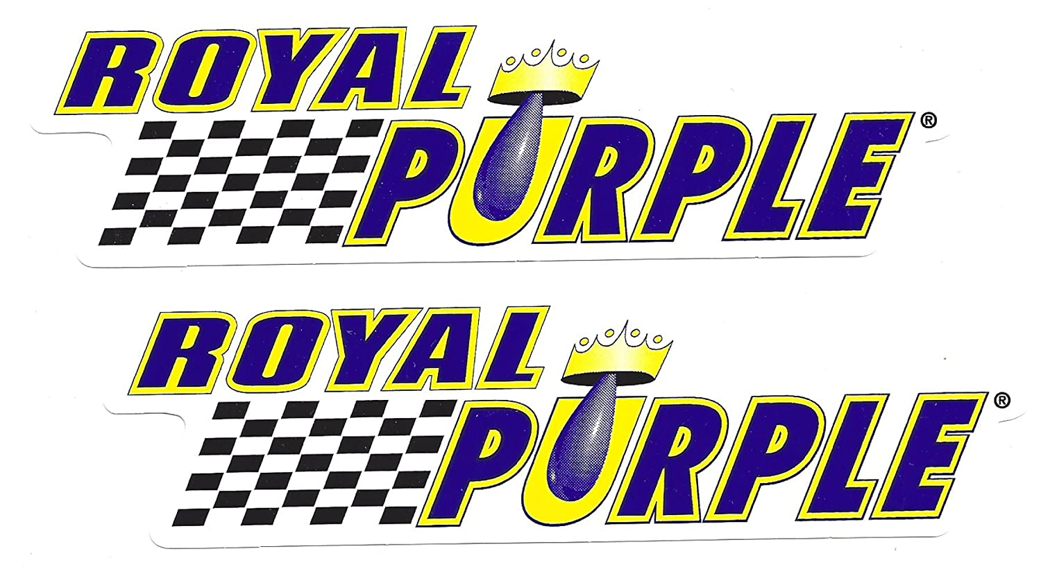 Amazon com royal purple racing decals stickers 7 inches long size set of 2 automotive