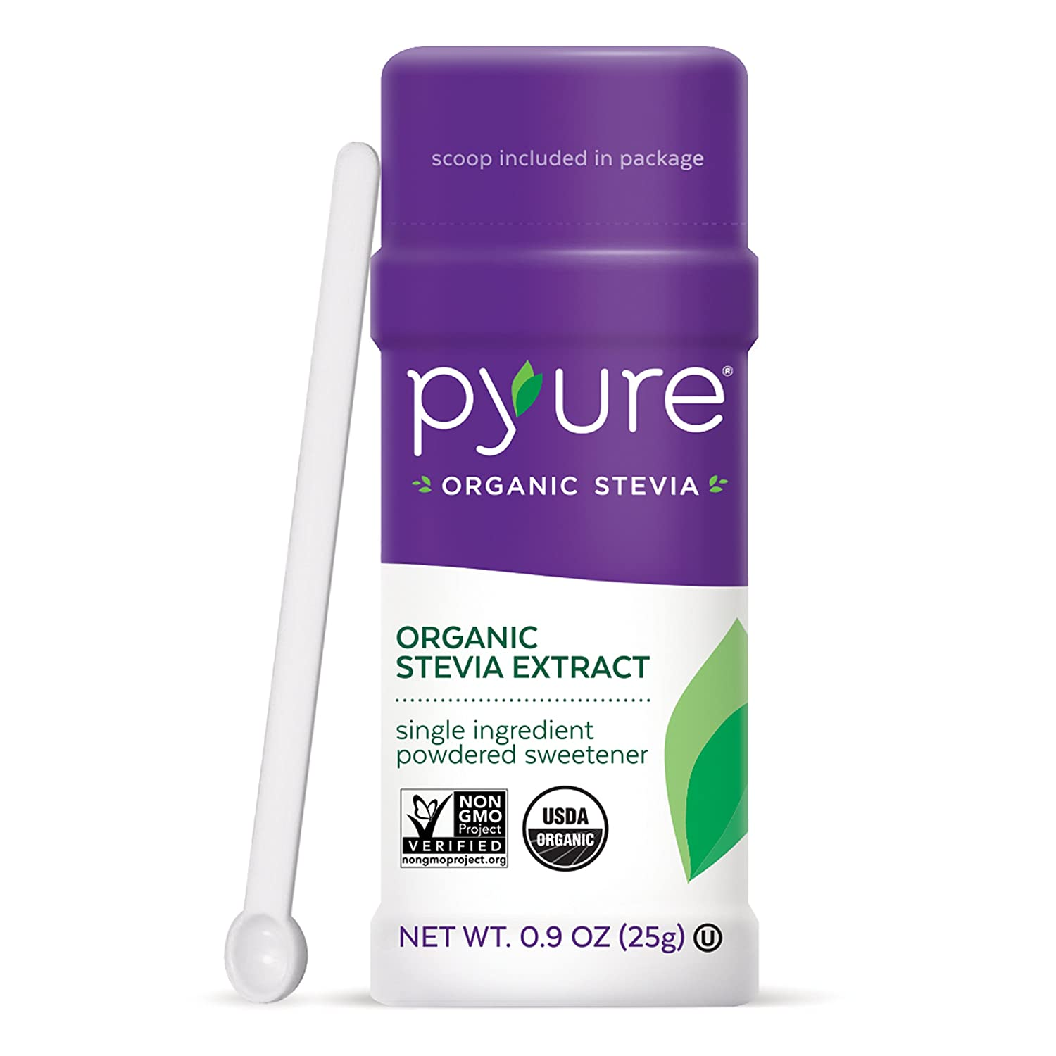 Pyure Organic Stevia Sweetener Extract Powder- 100% Stevia Leaf Extract, No Fillers, 300x Sweeter Than Sugar, 1,000 Servings, 0.9 Ounce