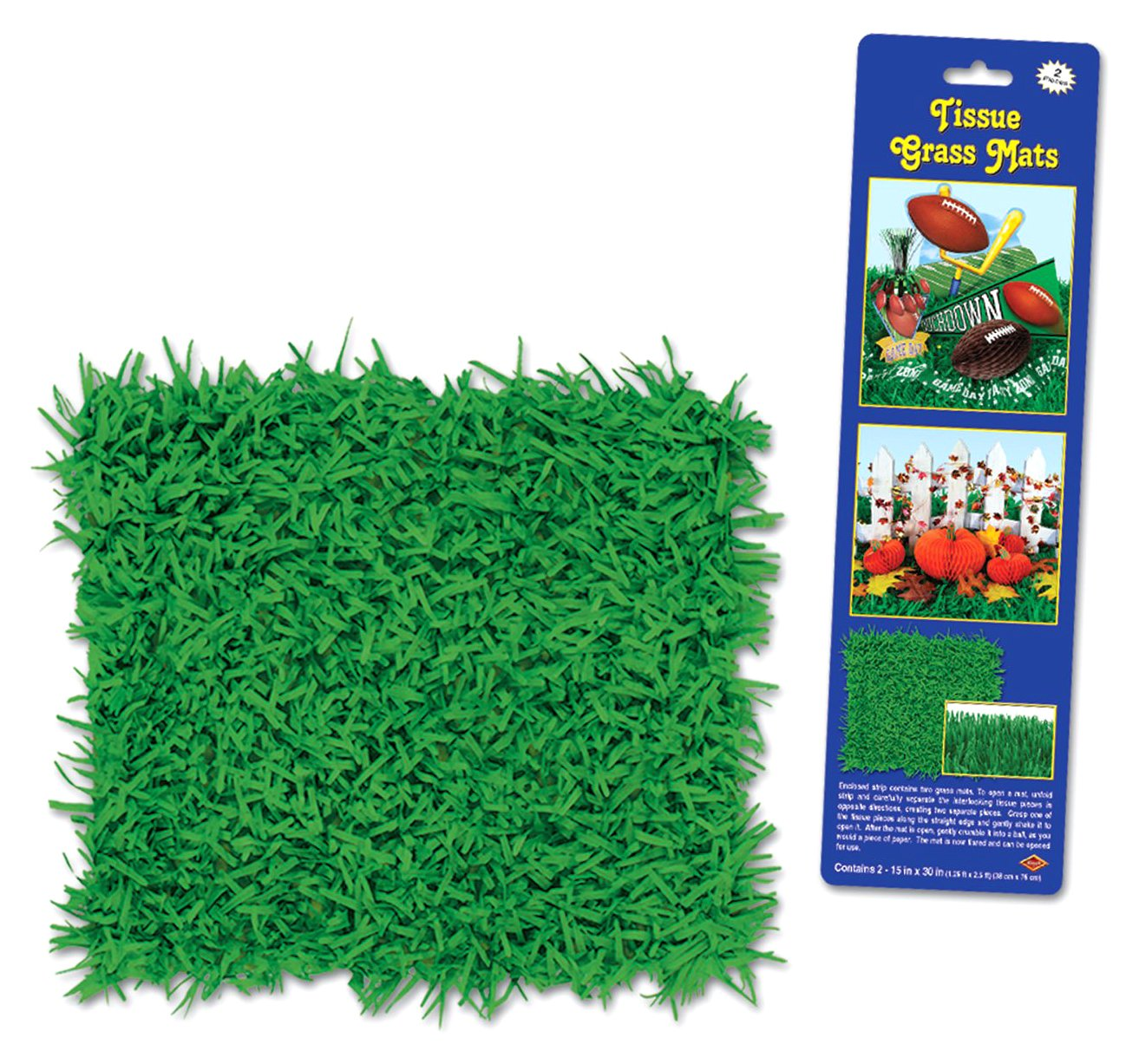 Amazon Com Plastic Tablecover Green Grass Turf Printed