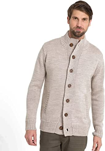 Woolovers Mens Pure Wool Cardigan Jumper Sweater Knitwear at