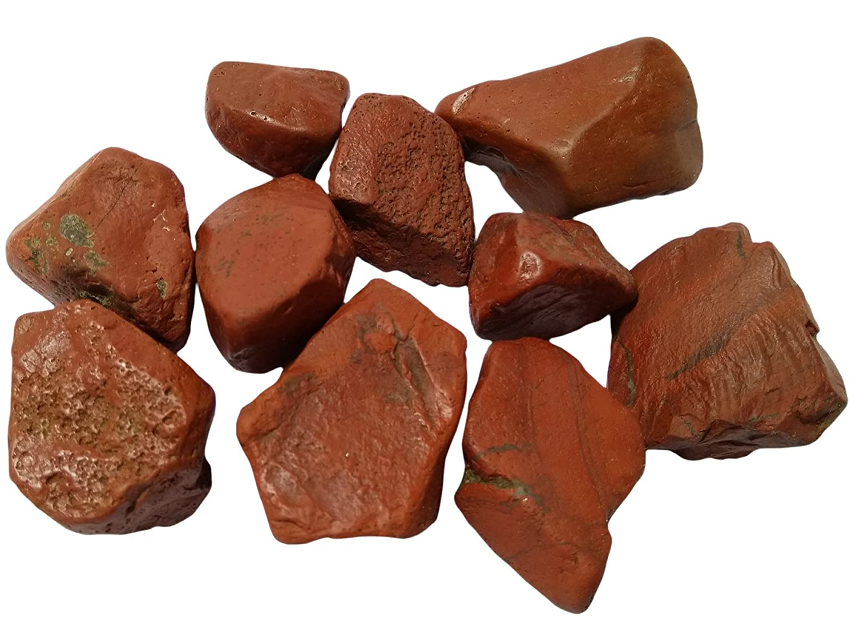 WholesaleGemShop 10 Pieces LOT of Natural Red Jasper Crystal Stone Natural Rough Mineral Specimen