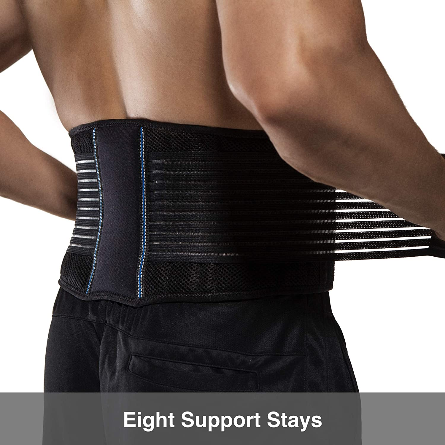 BraceUP Stabilizing Lumbar Lower Back Brace Support Belt Dual Adjustable Straps Breathable Mesh Panels (XXL): Health & Personal Care