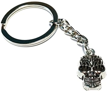 the latest stable quality wholesale price Tête Mort Mexicaine Calavera Crane Porte Clé Métal Biker ...
