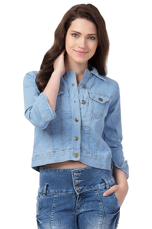 FurryFlair Full Sleeve Solid Women's Denim Jacket Women's Jackets