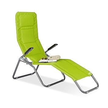 Amazon.de: Relaxdays Gartenliege XXL bis 150 kg belastbar, große ...