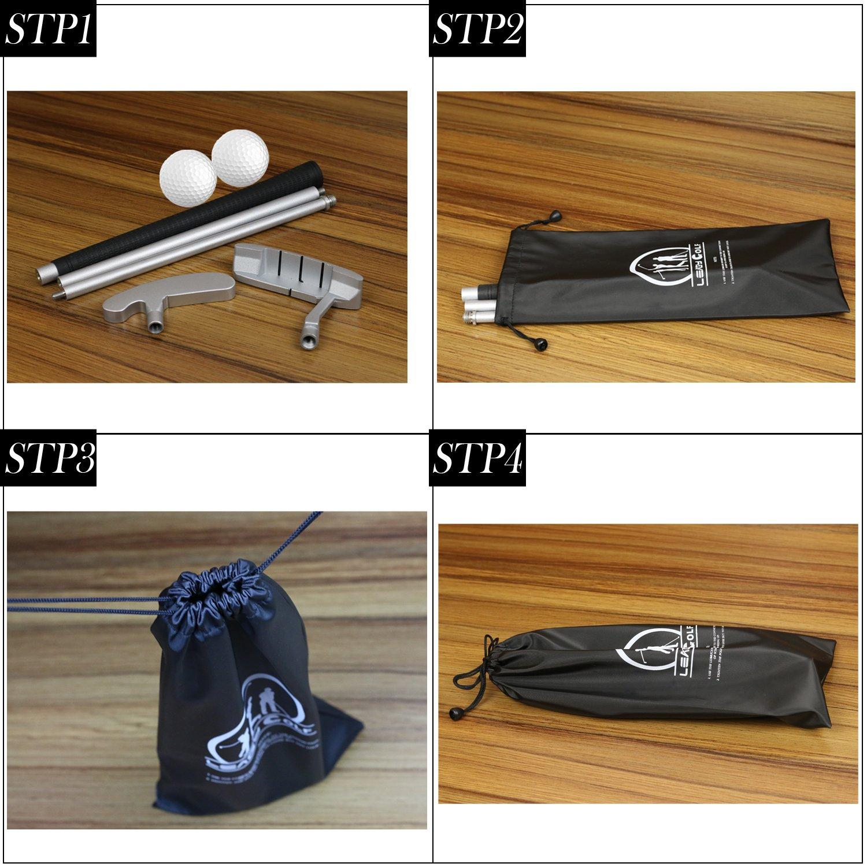 leagy Putters para diestros o zurdos golfistas, 2 color blanco pelota de Golf Club de Golf 4 parte color blanco portátil de aleación de zinc y & ...