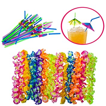 Luau Party Supplies - Hawaiian Party Favors - 36 Pc. - Lei Necklaces and Umbrella  sc 1 st  Amazon.com & Amazon.com: Luau Party Supplies - Hawaiian Party Favors - 36 Pc ...