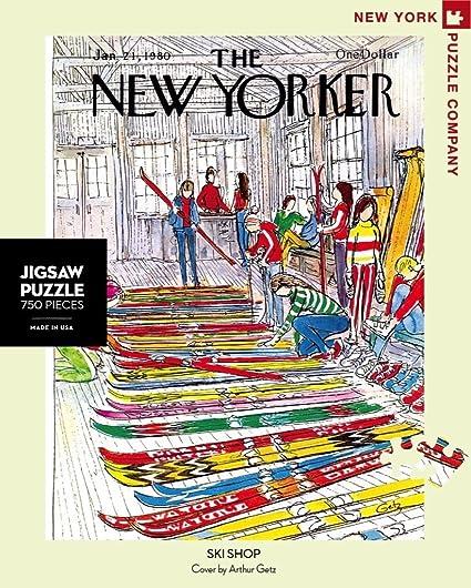 New York Puzzle Company 1000 Piece Jigsaw Puzzle New Yorker Apr/ès-Ski