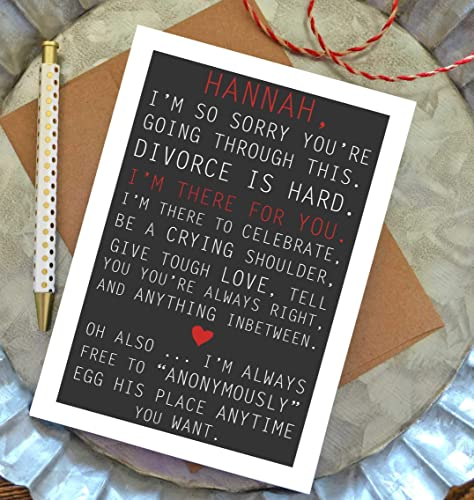 Amazon com: Funny Divorce Card with Envelope - Break Up Card with