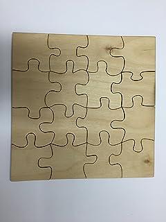 Derwent Laser Craft 16 Piece Blank Wooden Jigsaw Puzzle