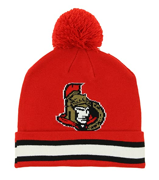 wholesale dealer 3a687 c123c NHL Edmonton Oilers Youth 8-20 Cuffed Knit Hat with Pom, One Size, Royal,  Skullies   Beanies - Amazon Canada