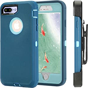 Defense Case for iPhone 5 5S / iPhone SE,[Impact Screen Protector][Heavy Duty][Drop Protection] Tough Rugged TPU Hybrid Hard Shell Case for iPhone SE 5S (Light Blue)
