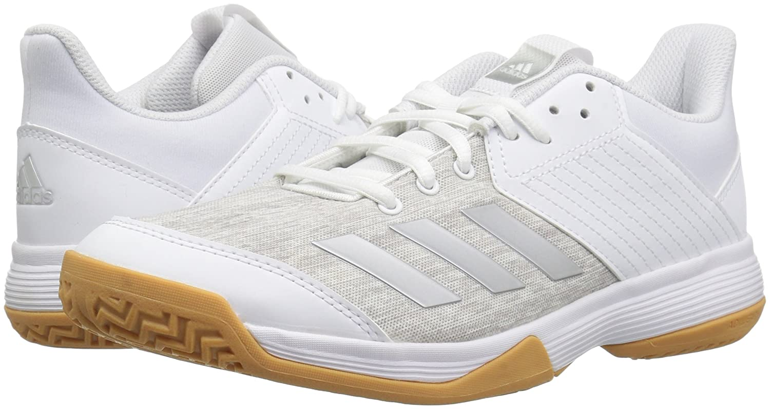 adidas Women's Ligra 6 Volleyball Shoe B077WYQ3D3 6.5 B(M) US|White/Silver Metallic/Grey