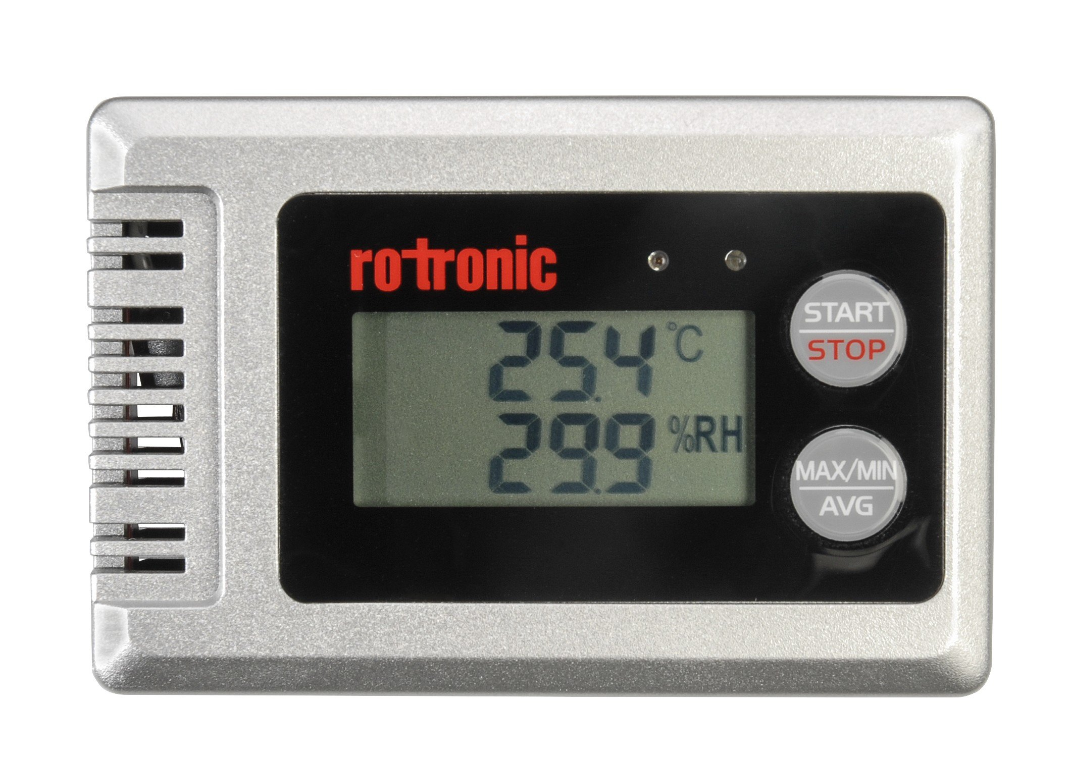 Rotronic HL1D Relative Humidity and Temperature Data Logger, Silver