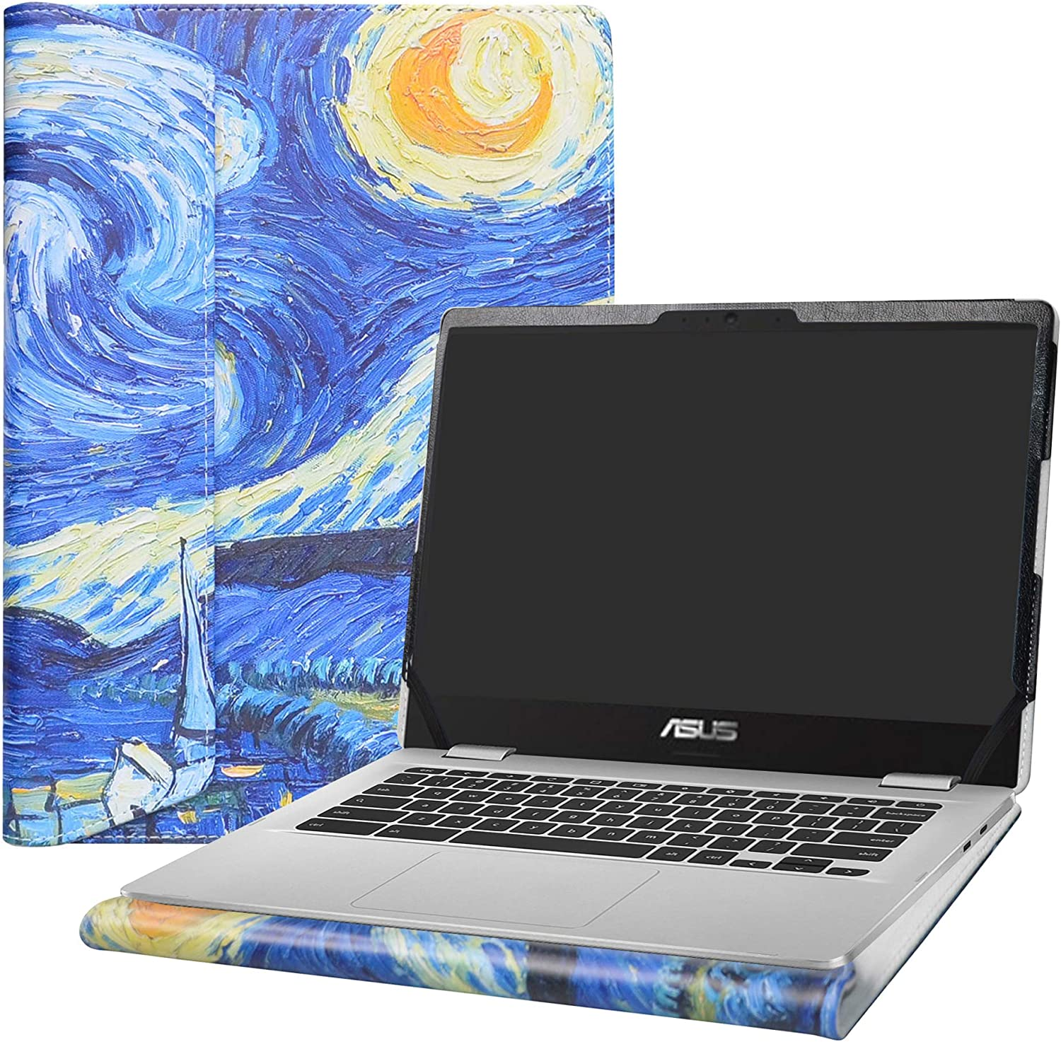 "Alapmk Protective Case Cover for 14"" ASUS Chromebook C423NA c423na-dh02 & ACER Swift 3 14 SF314-55 SF314-55g SF314-56 Laptop(Note:Not fit Swift 3 SF314-51 SF314-57 SF314-52 SF314-53),Starry Night"
