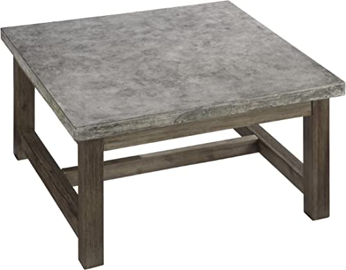Concrete Chic Brown/Gray Coffee Table - the best living room table for the money