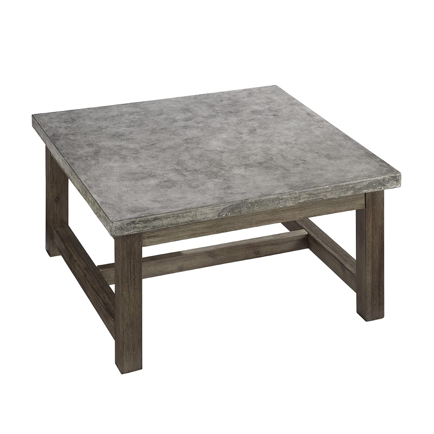 Etonnant Amazon.com: Home Styles 5133 21 Concrete Chic Square Coffee Table: Kitchen  U0026 Dining