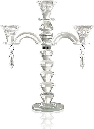 allgala 2-Arm Crystal Candelabra Taper Candlestick Candle Holder