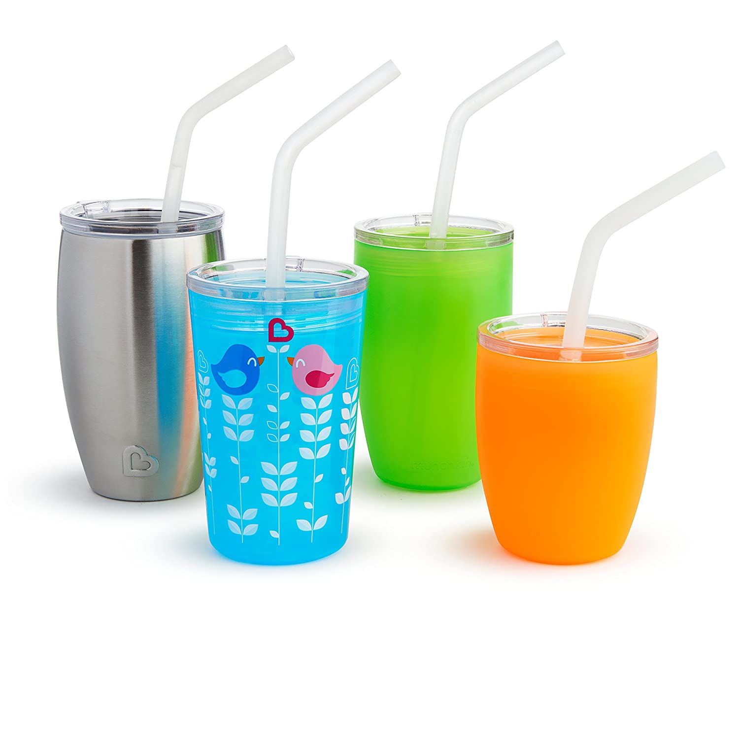 3 Piece Set Munchkin Sippy and Straw Lids for Miracle 360 Cups